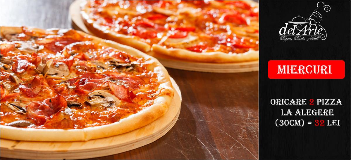Oferta Miercuri 2pizza + 2 gratis