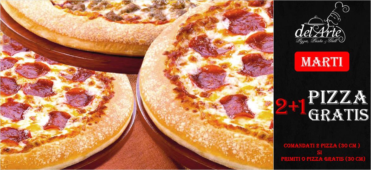 Oferta Marti 2pizza + 1 gratis
